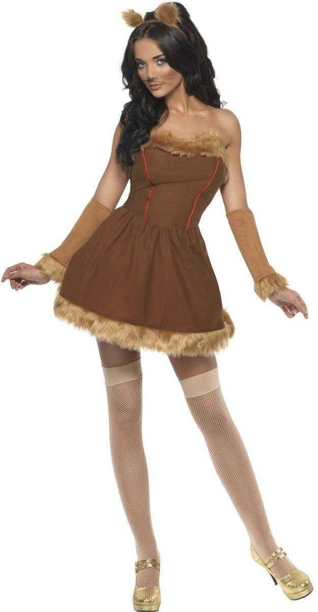 Ladies Fever Queen Of The Lions Fancy Dress Costume