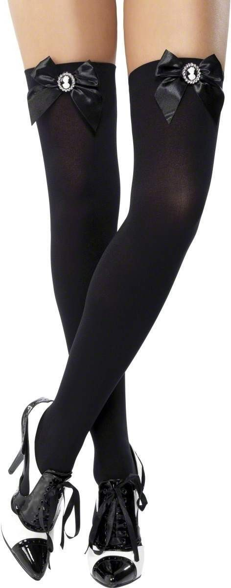 Stockings Black Black And Cameo - Fancy Dress Ladies