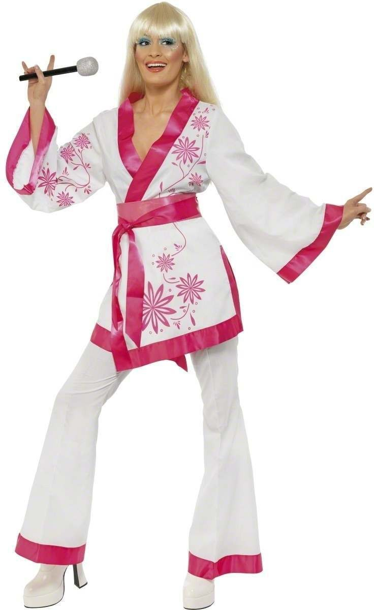 Mini Kimonos Fancy Dress Costume Ladies (1970S)