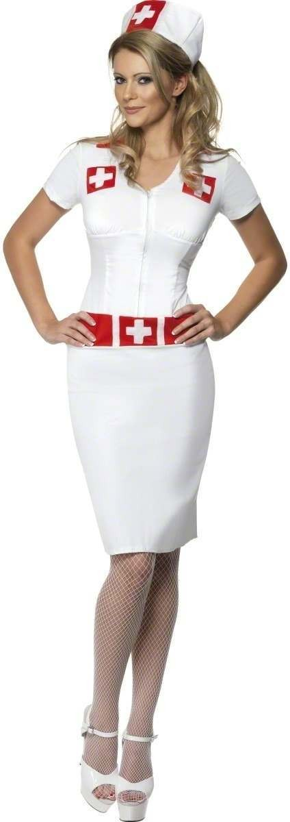 Knockout Nurse Fancy Dress Costume Ladies (Doctors/Nurses)