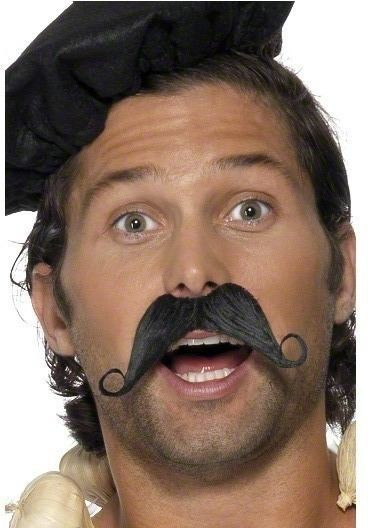 Frenchman Moustache - Fancy Dress Mens