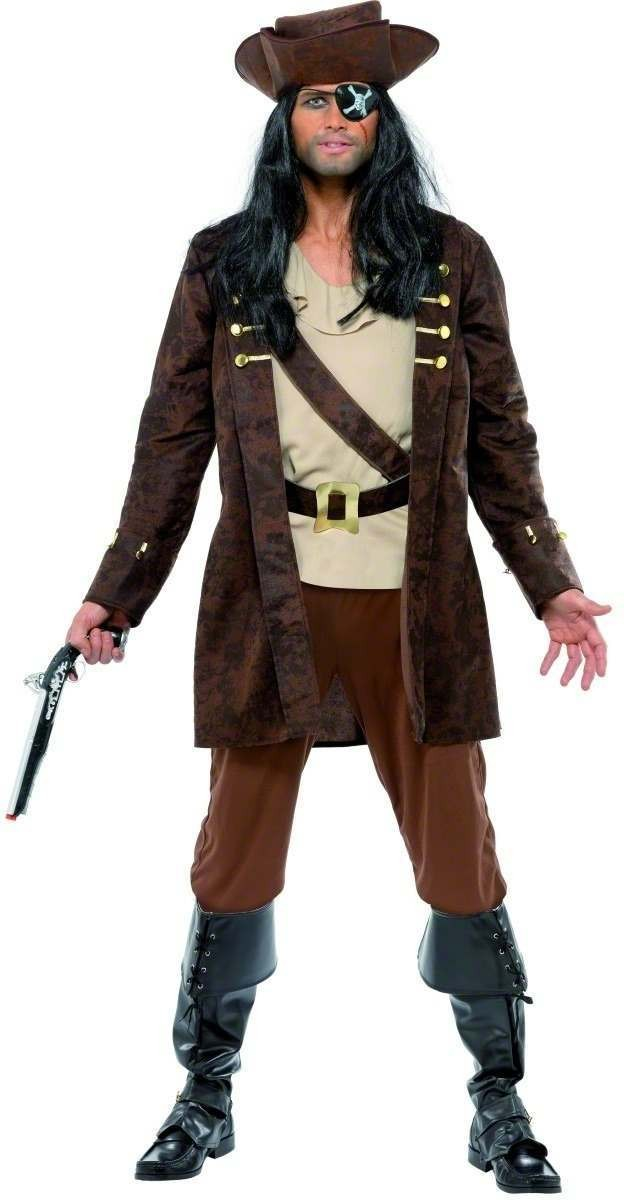 Buccaneer Fancy Dress Costume Mens (Pirates)