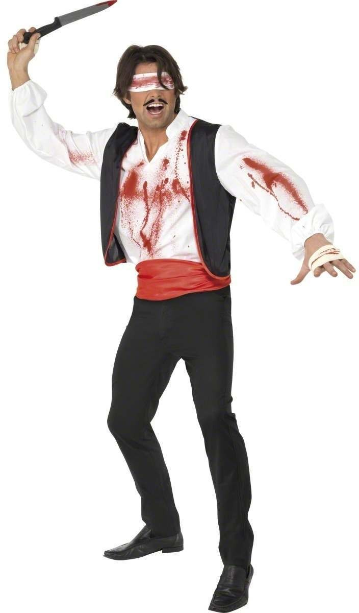 Cirque Sinister Knife Thrower Costume Mens Size 38-40 S (Halloween)