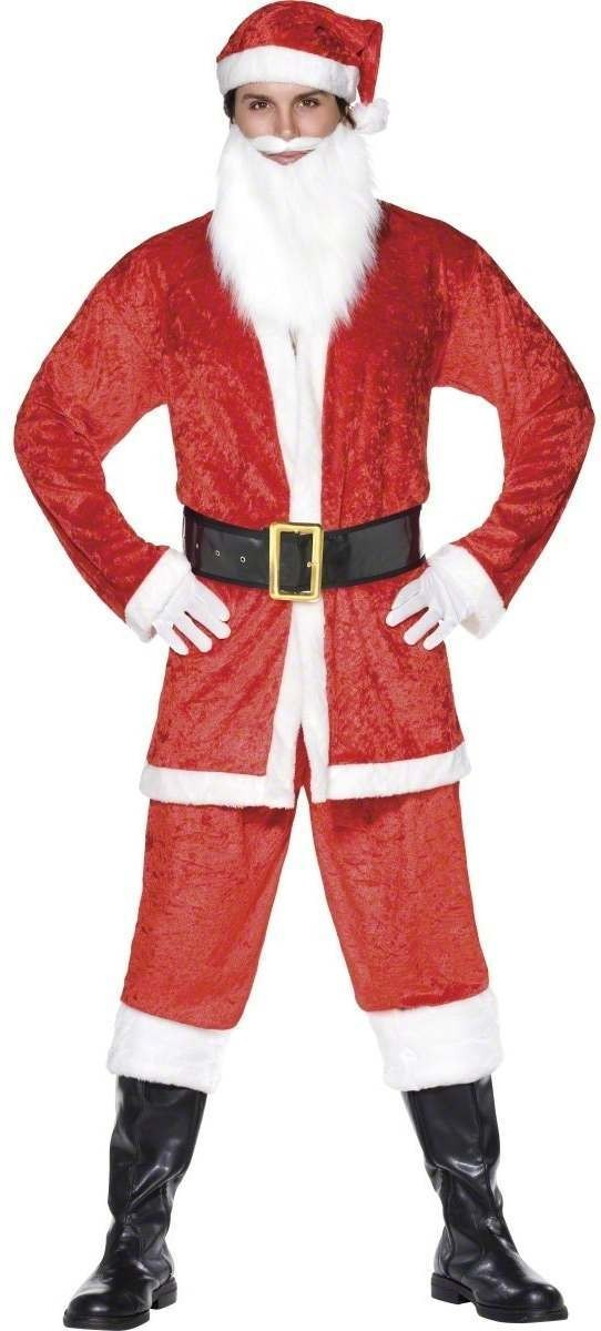 Santa Suit Fancy Dress Costume Mens (Christmas)