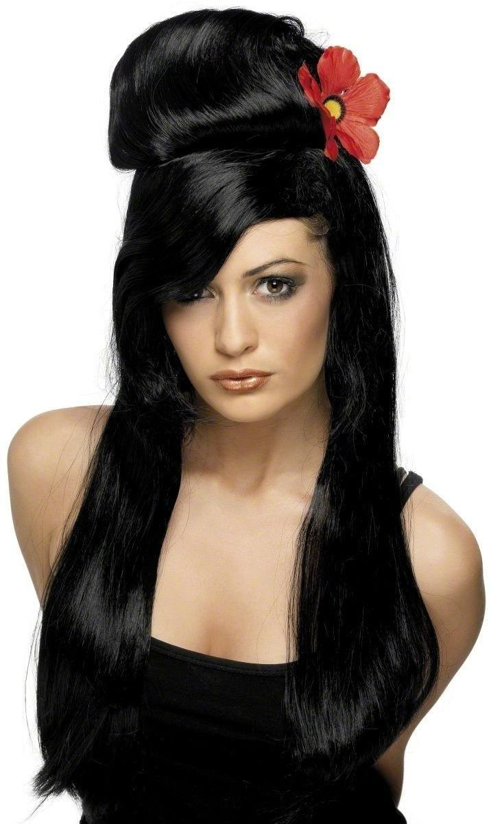 Pin Up Wig - Fancy Dress Ladies - Black