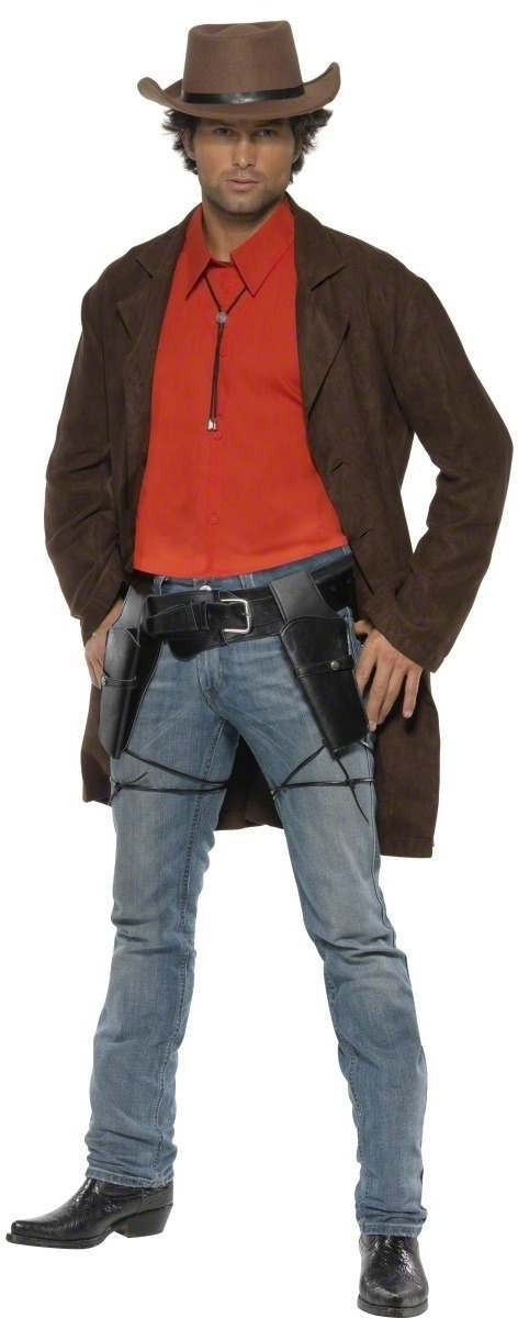 Western Fancy Dress Costume Mens Size 38-40 S (Cowboys/Native Americans)