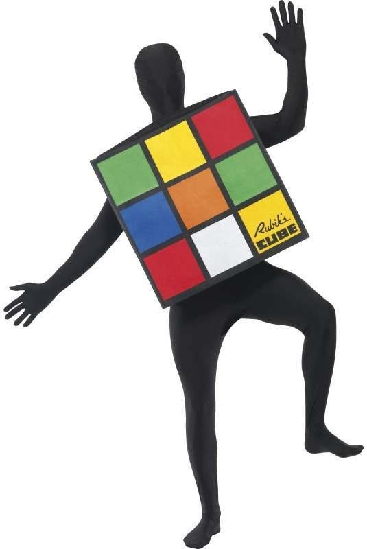 Rubik'S Cube Unisex Fancy Dress Costume