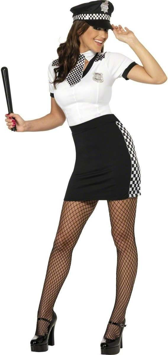 Cop Fancy Dress Costume Ladies (Cops/Robbers)