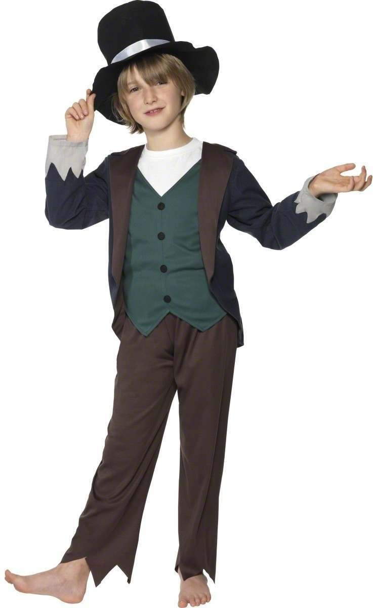 Victorian Poor Boy Fancy Dress Costume Boys (Old English)
