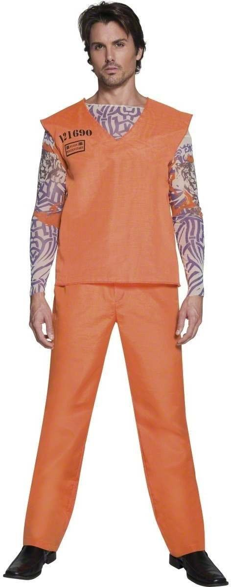 Fever Male Convict Costume Mens Size 38-40 S (Cops/Robbers , Sexy)