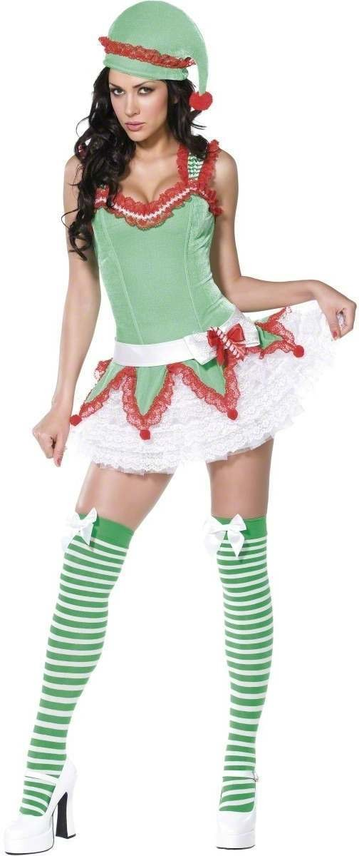 Bijou Boutique Elf 4 Piece Fancy Dress Costume Ladies (Sexy)