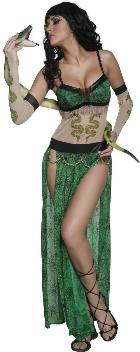 Cirque Sinister Wicked Tattoo Snake Charmer Costume (Halloween)