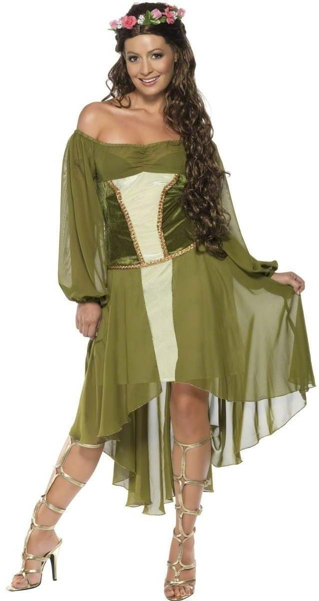 Fair Maiden Fancy Dress Costume Ladies (Medieval)