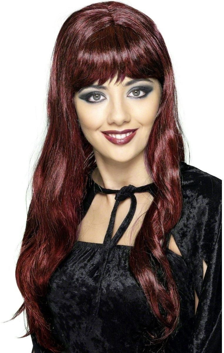 Long Witches Wig - Fancy Dress Ladies (Halloween) - Red