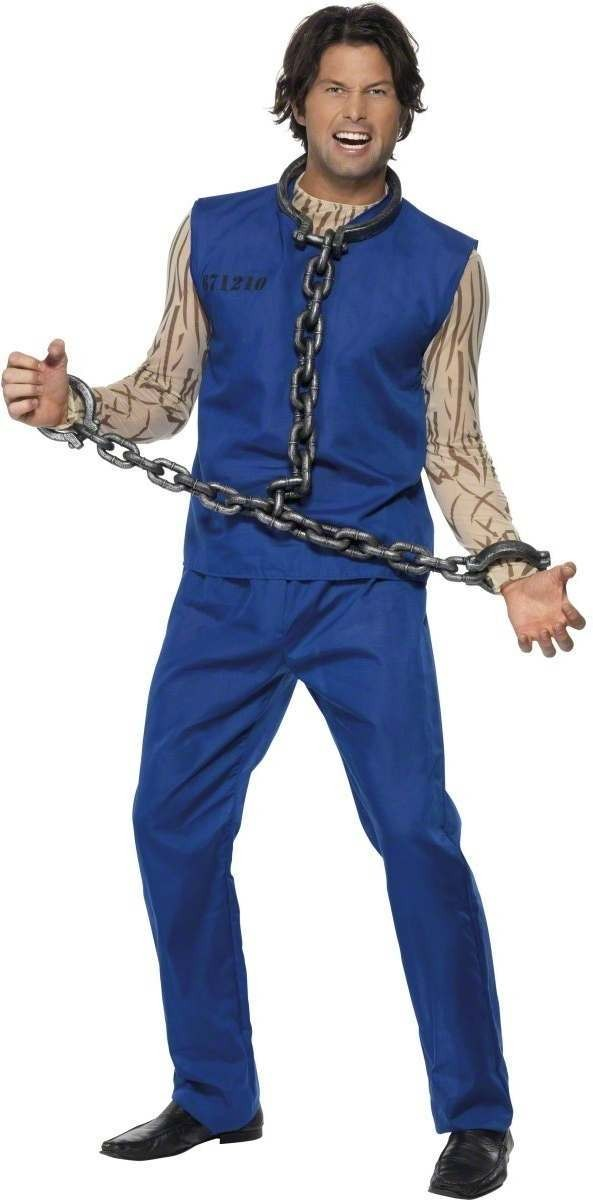 Convict Chain Links - Fancy Dress Mens (Cops/Robbers)