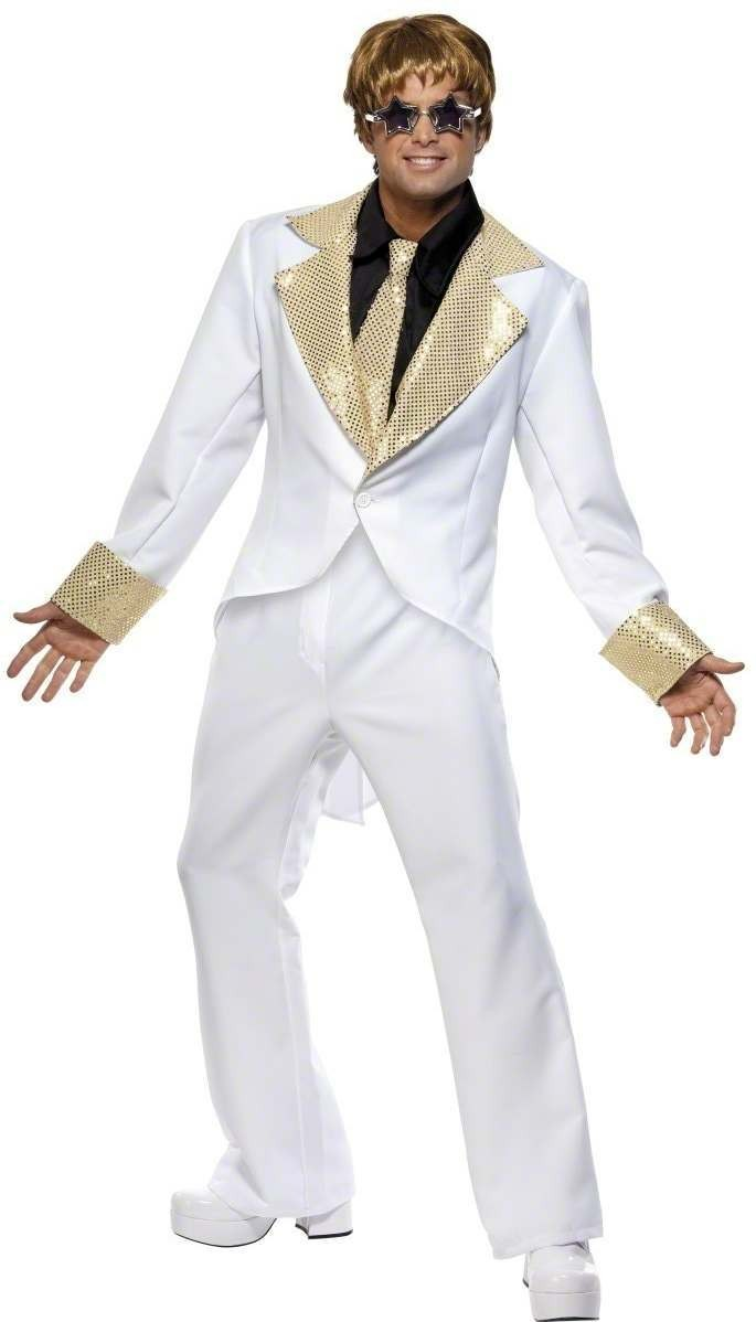 70S Rocket Man Fancy Dress Costume Mens (1970S)