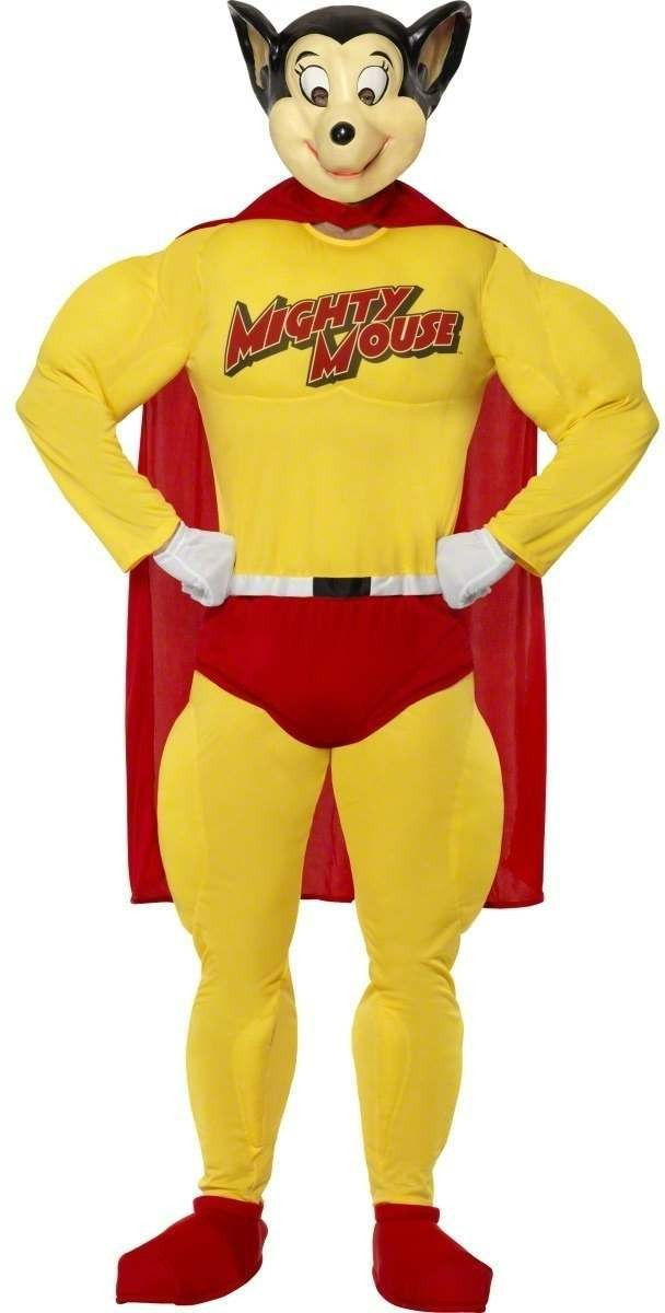 Mighty Mouse Fancy Dress Costume Mens (1980S, Animals, Cartoon)