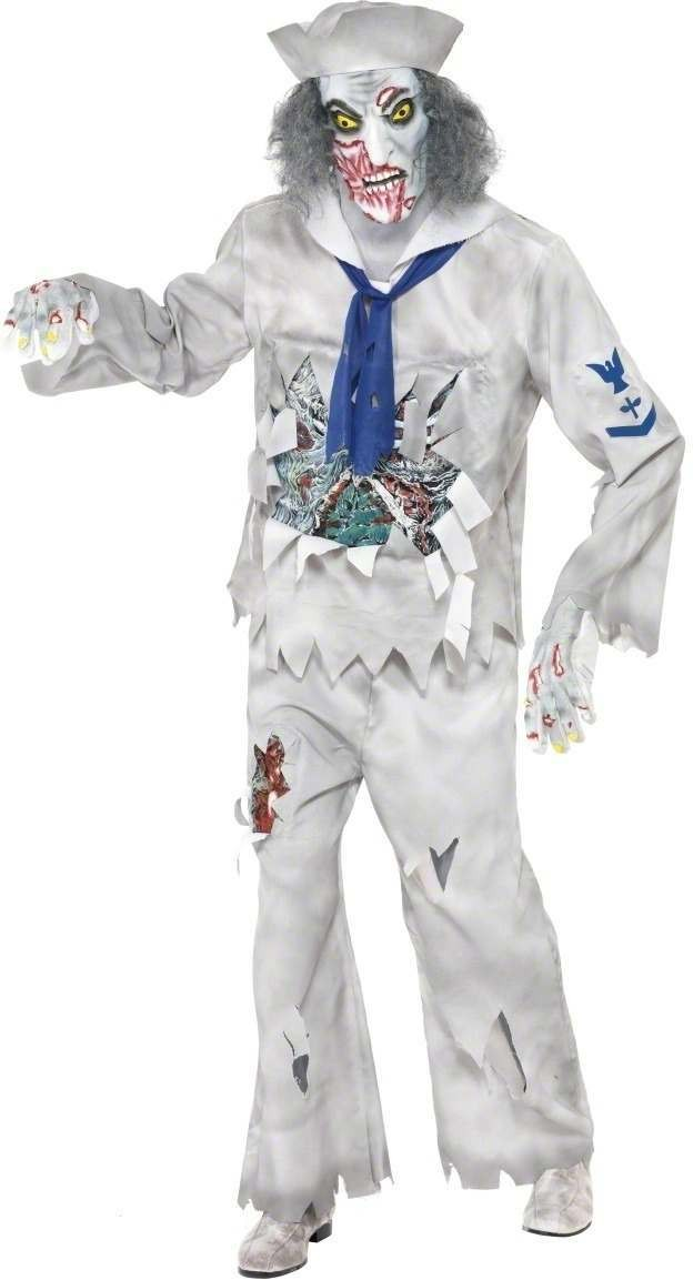 Zombie Sailor Fancy Dress Costume Mens (Halloween)