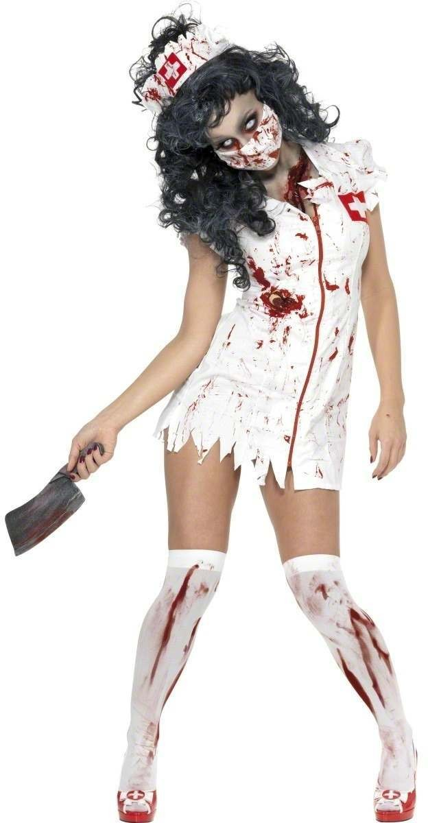 Zombie Nurse Fancy Dress Costume Ladies (Halloween)