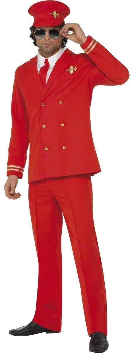 High Flyer Fancy Dress Costume Mens (Pilot/Air)