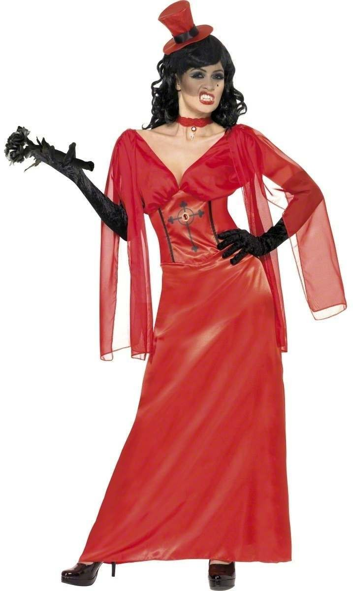 Dracula'S Bride Fancy Dress Costume Ladies (Halloween)