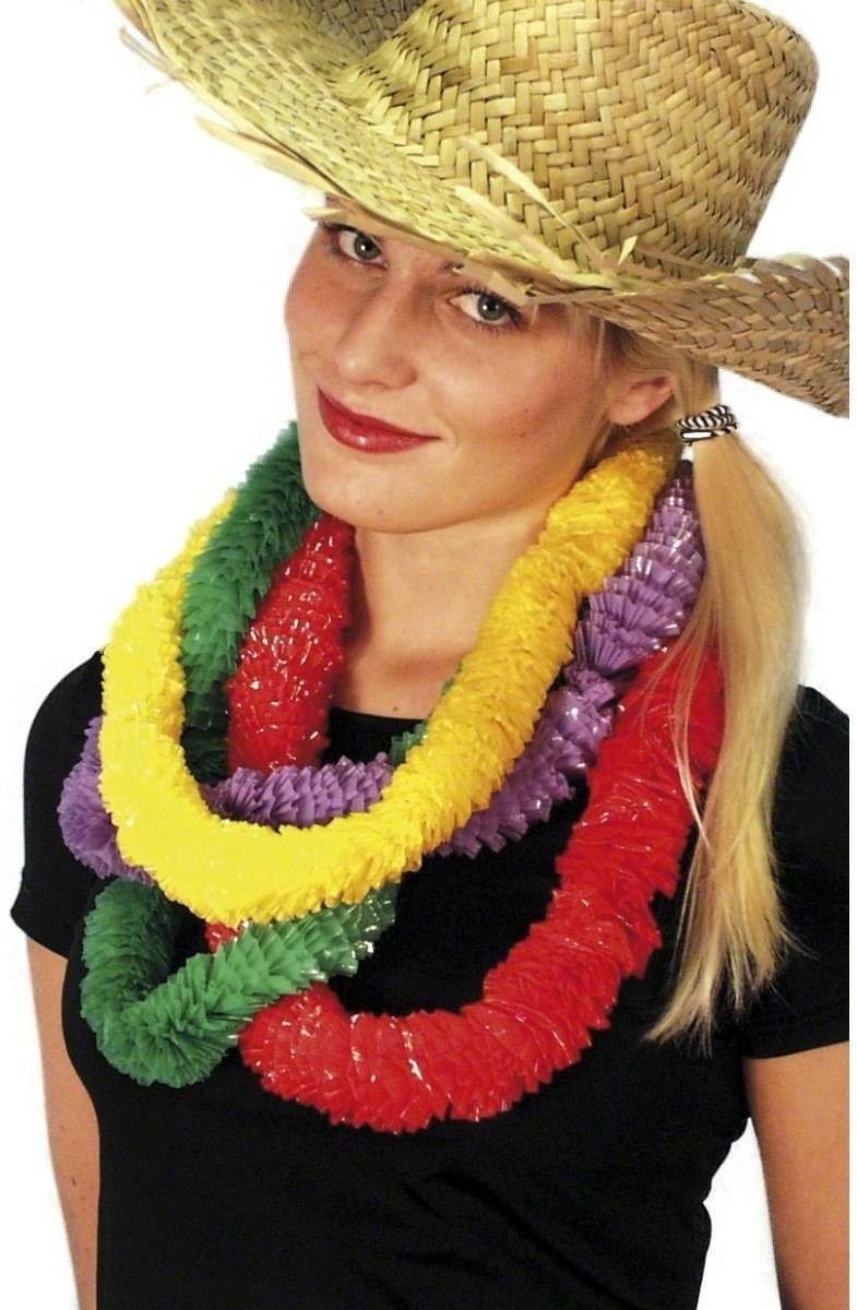 Hawaiian Party Lei 4 Assorted - Fancy Dress (Hawaiian)