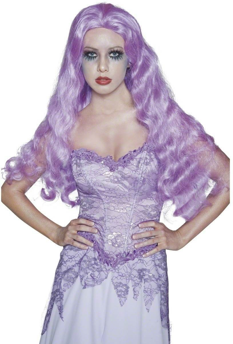 Gothic Manor Bride Wig - Fancy Dress Ladies (Halloween) - Lilac