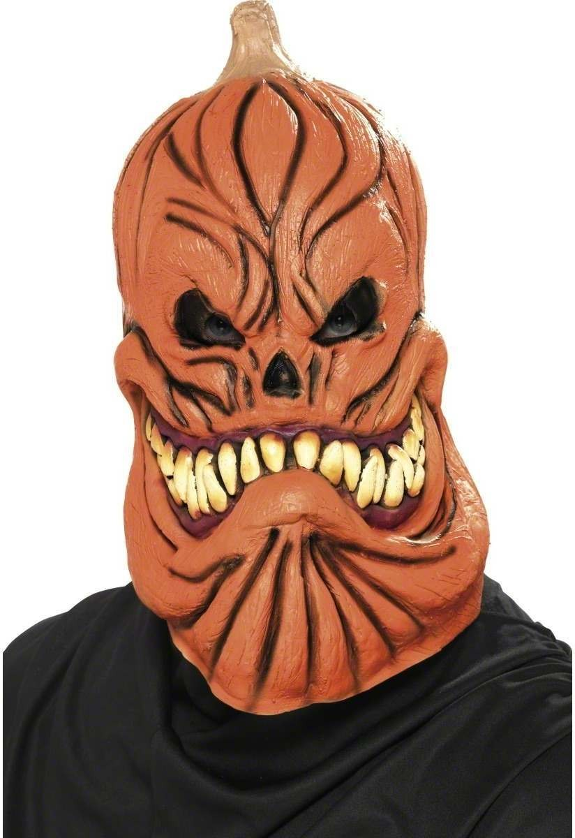 Pumpkin With Attitude Overhead Mask - Fancy Dress Mens (Halloween)