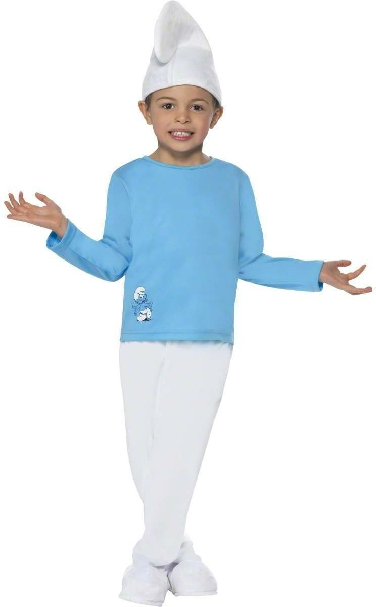 Boy Smurf Fancy Dress Costume Boys (1970S , 1980S , Cartoon , Film , Tv)