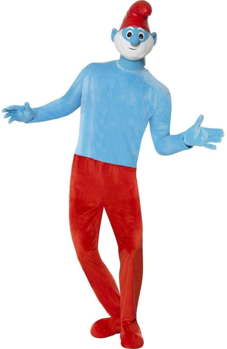 Papa Smurf Deluxe Fancy Dress Costume Mens (1980S , Cartoon , Film , Tv)