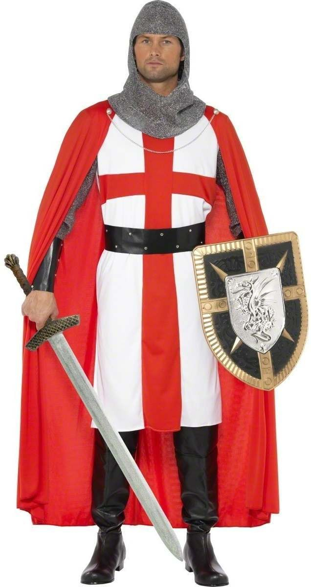 St George Hero Fancy Dress Costume Mens Size 38-40 S (Cultures)