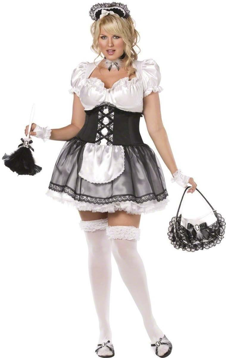 Envy French Maid 3 Piece Fancy Dress Costume Size 20-22 (Sexy)