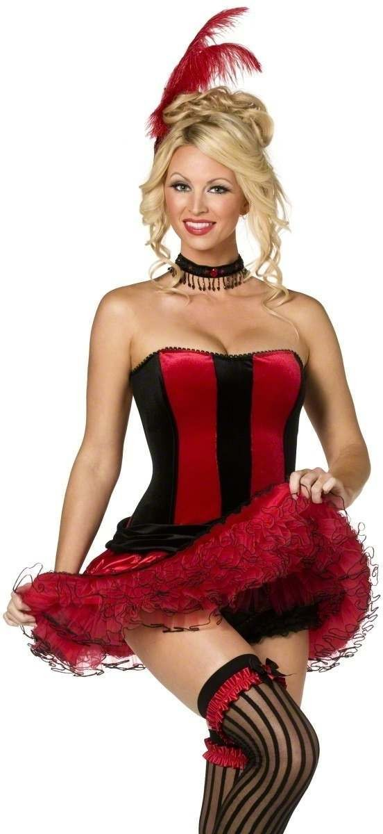 Can Can 5 Piece Fancy Dress Costume Ladies (Burlesque , Sexy)