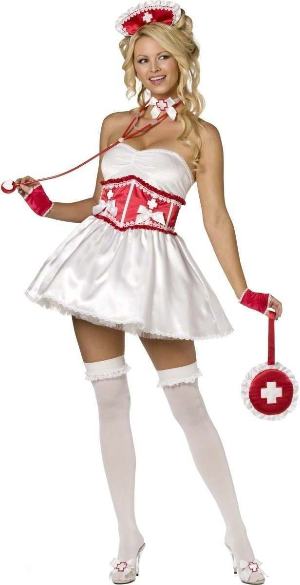 Sweetheart Nurse 4 Piece Fancy Dress Costume Ladies (Sexy)
