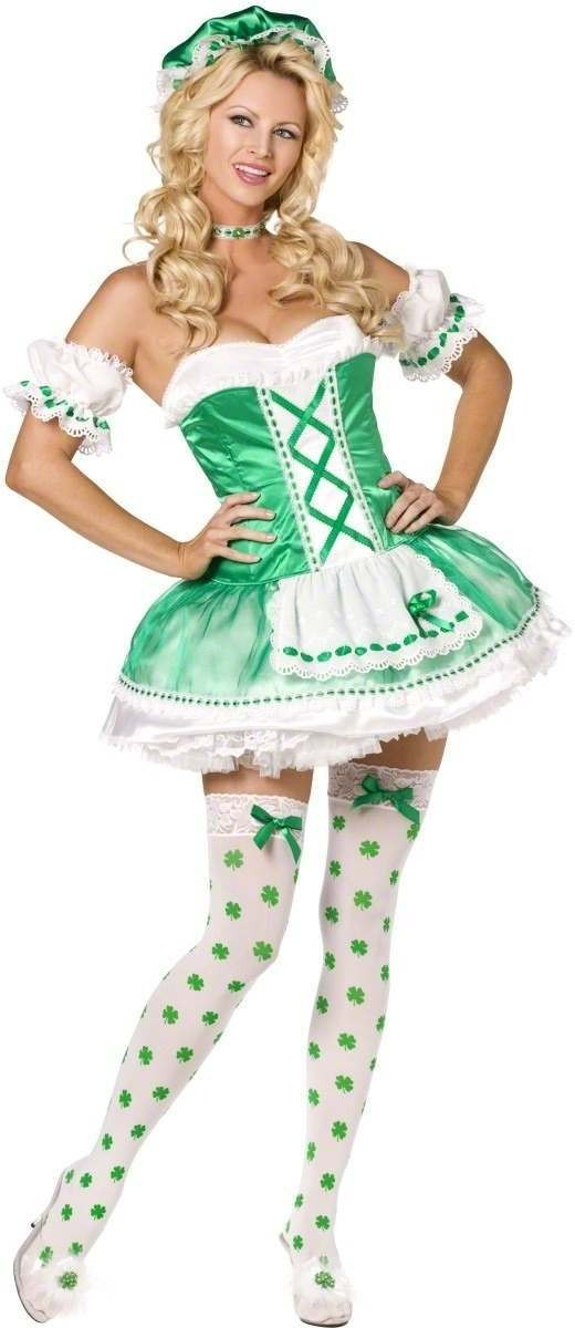 Fever Boutique Saint Pattys 4 Piece Fancy Dress Costume
