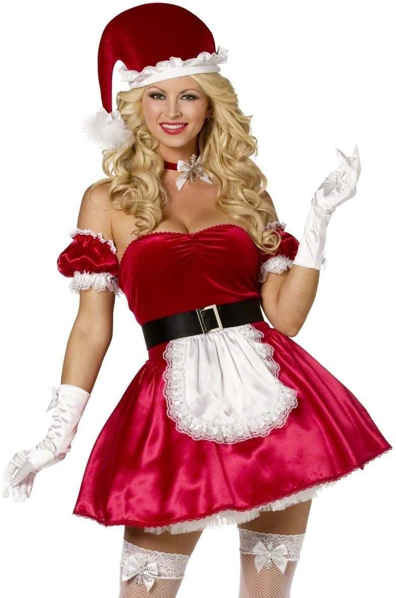 Santa'S Helper 5 Piece Fancy Dress Costume Ladies (Sexy)