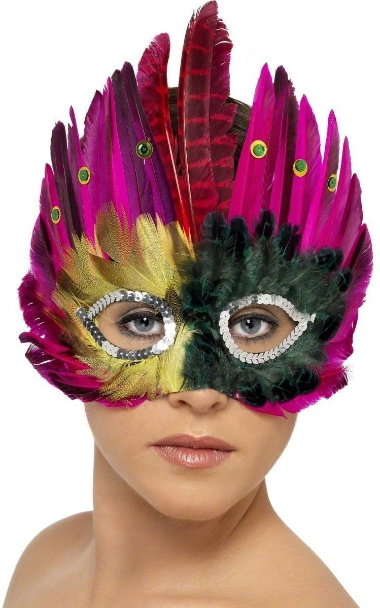 Feathered Eyemask - Fancy Dress