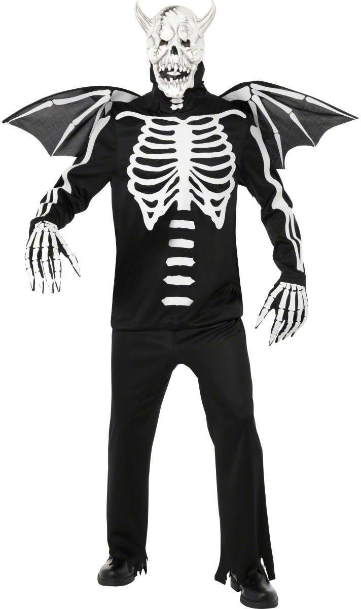 Gothic Manor Demon Bones Costume Mens Size 38-40 S (Halloween)