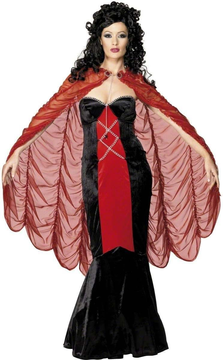 Gothic Manor Cape Fancy Dress Costume Ladies (Halloween)