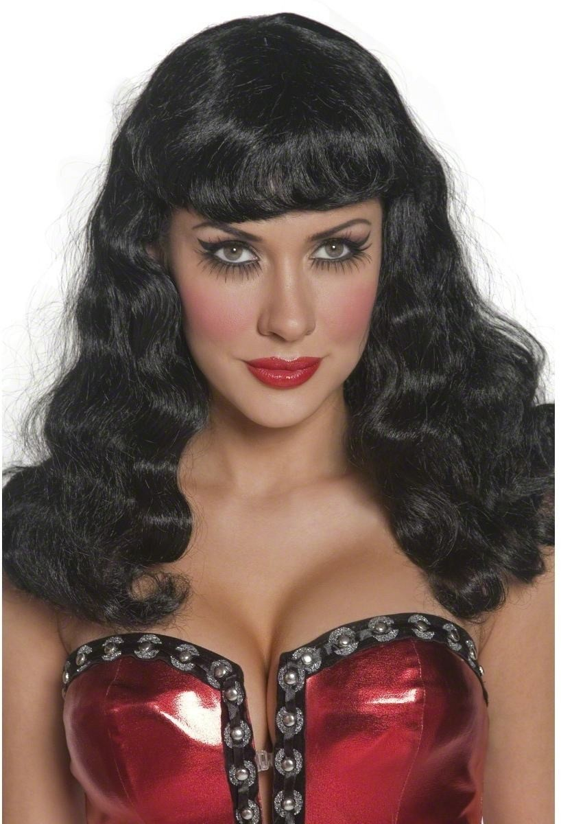 Cirque Sinister Glamour Wig - Fancy Dress Ladies - Black