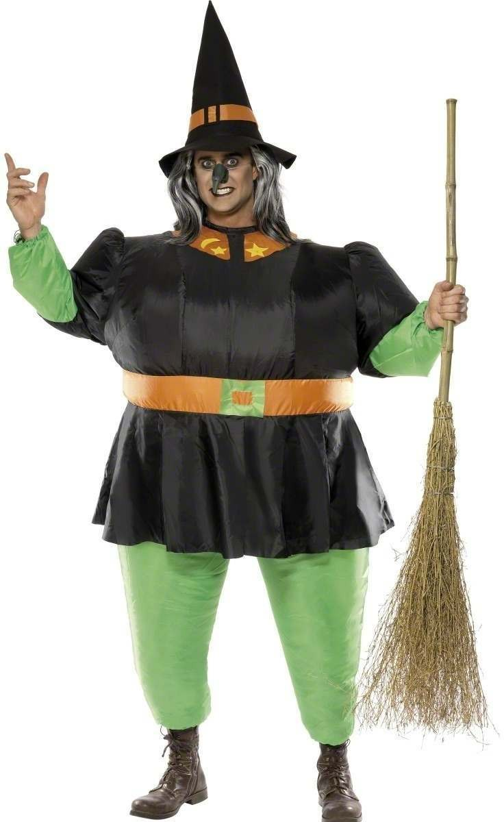 Inflatable Witch Fancy Dress Costume Mens (Halloween)