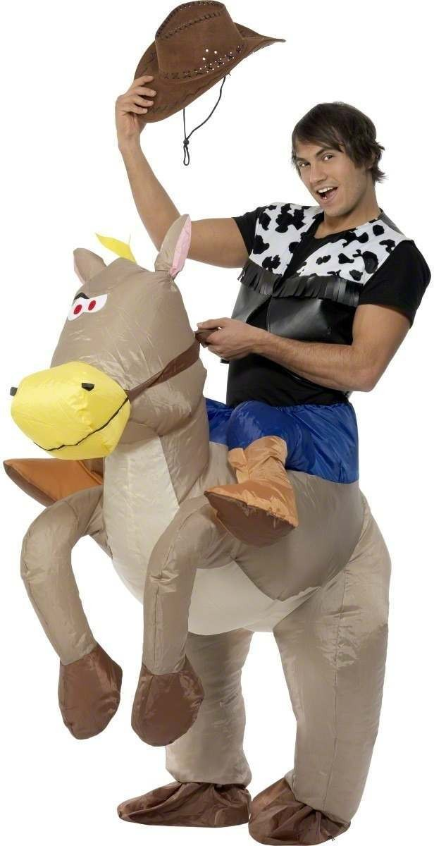 Ride Em Cowboy Inflatable Fancy Dress Costume (Cowboys/Indians)