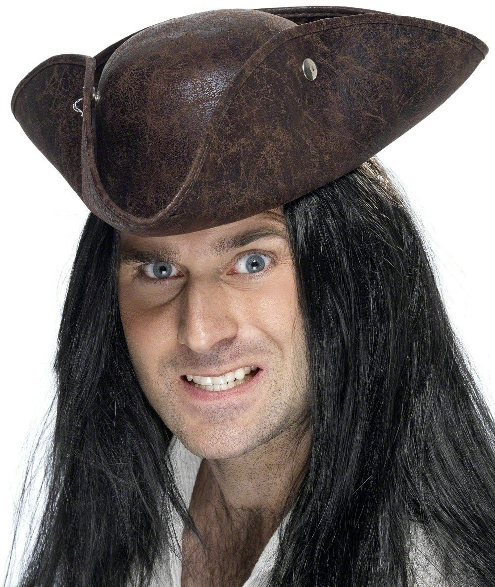 a3ec21460db Buy Pirate Tricorn Hat - Fancy Dress (Pirates) - Largest online fancy dress  range in the UK - Price Guarantee   FREE Delivery