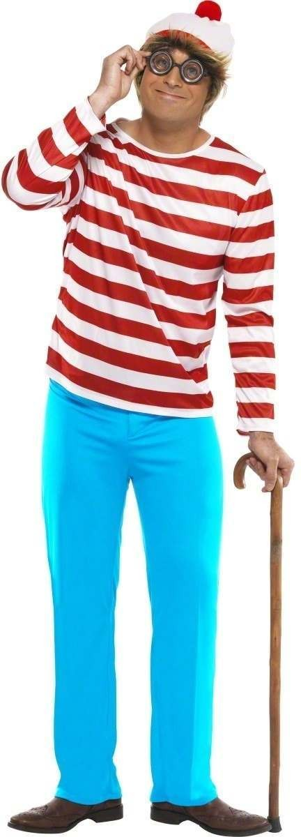Where'S Wally - Fancy Dress Mens (Cartoon)