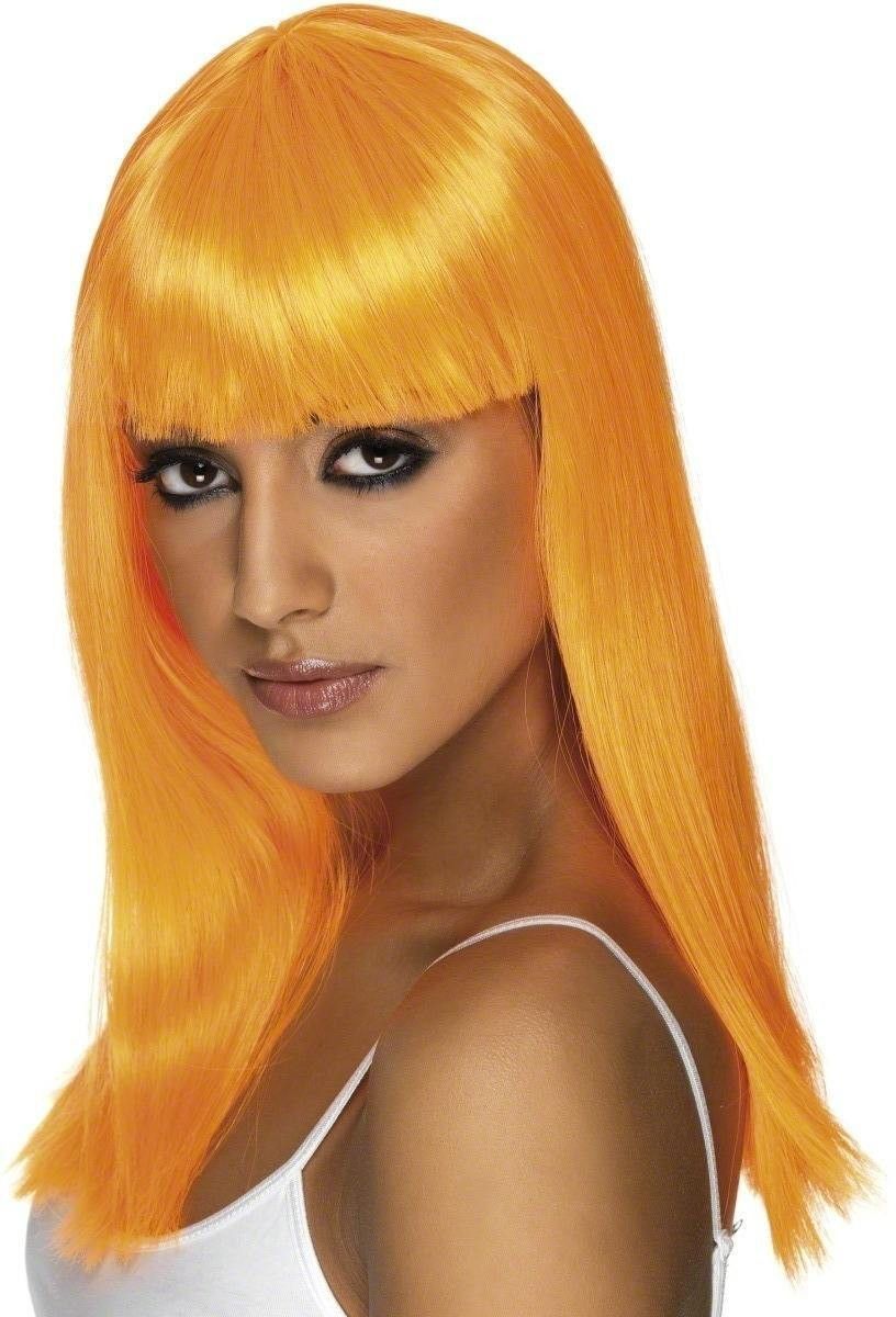 Glamourama Wig - Fancy Dress Ladies - Orange