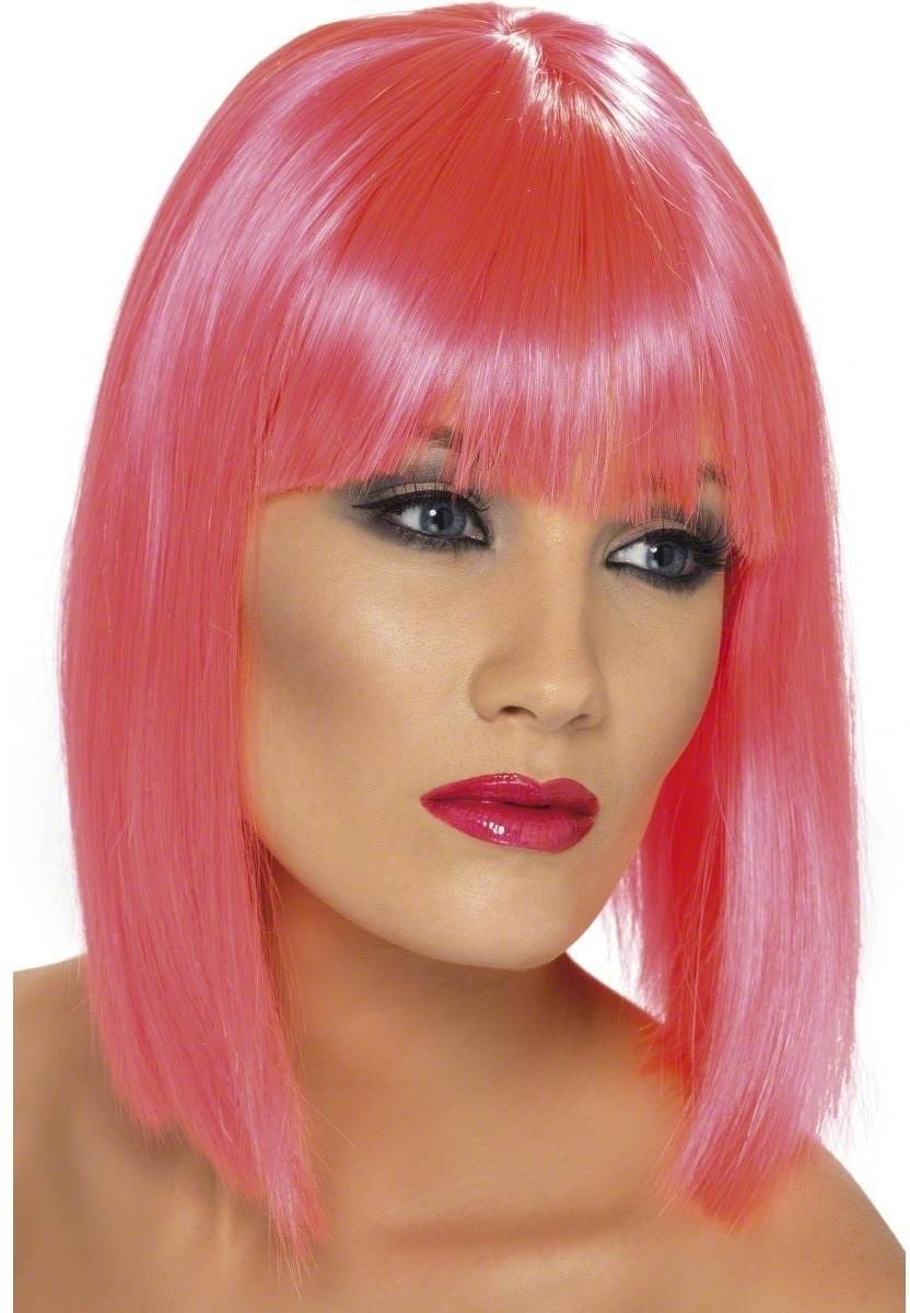 Glam Wig - Fancy Dress Ladies - Pink