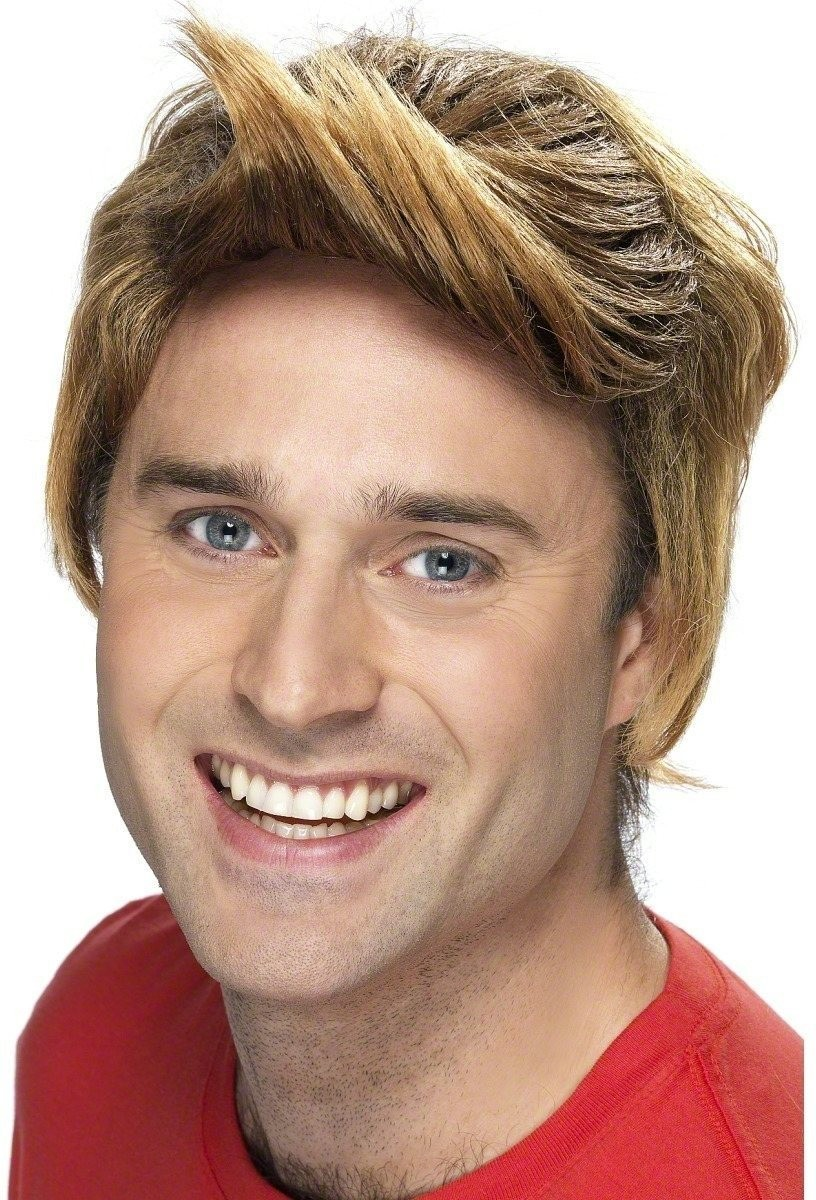 Comedy Guy Wig - Fancy Dress Mens - Auburn