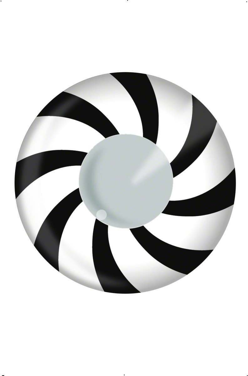 Accessoreyes - Black And White Swirls Fancy Dress
