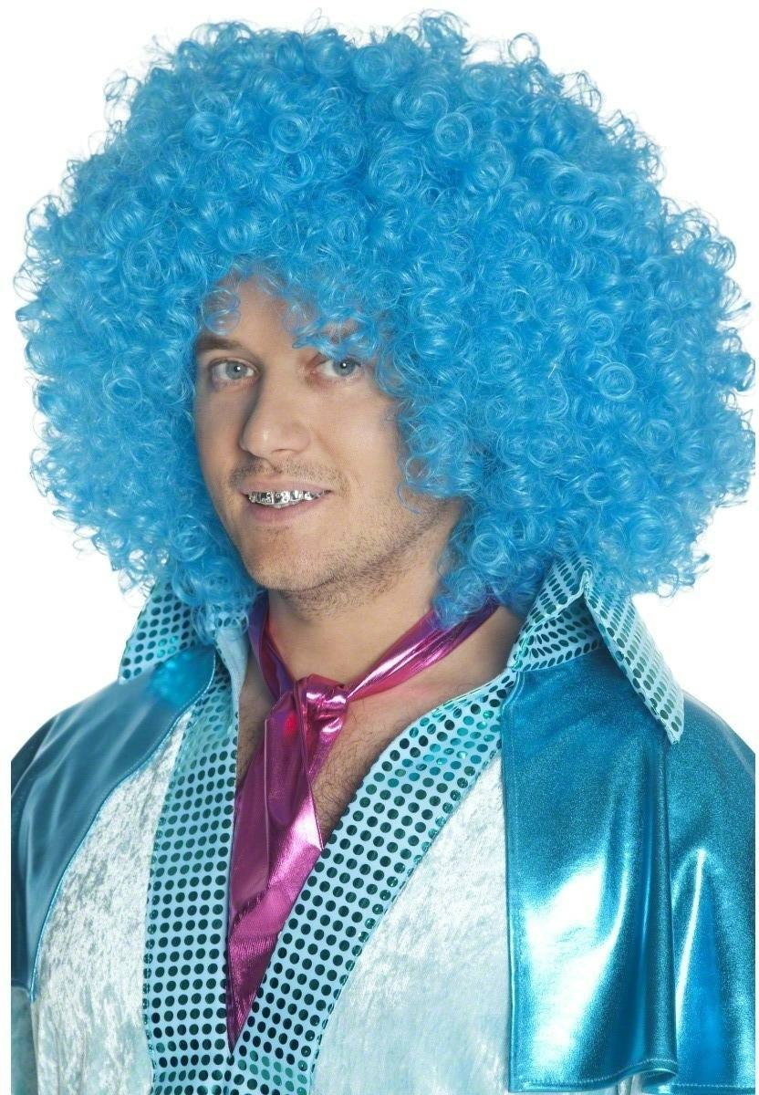 Fairy Godbrother Wig - Fancy Dress Mens (Fairy Tales) - Blue