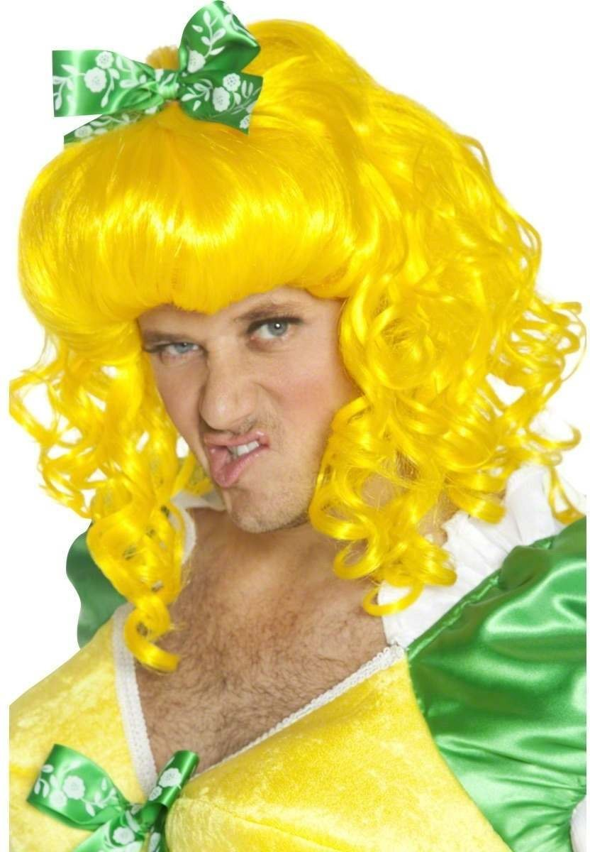 Ugly Sister Wig - Fancy Dress Mens - Yellow